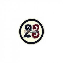 Emblema brodata cu numarul 23 5x5cm