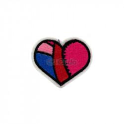 Emblema brodata in forma de inima 5.5x4.5cm