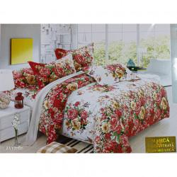 Lenjerie de pat cu 6 piese din bumbac satinat 250 x 230 cm LP6P-17
