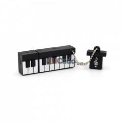 Memorie USB de 16GB în formă de pian (Alb / Negru) poza 4