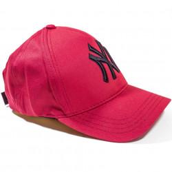 Șapcă roșie logo New York negru