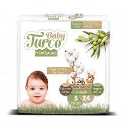 Set 24 Scutece Bumbac, Vegane pentru Copii 12 - 25 Kg Numărul 5