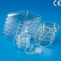 Cutii Petri plastic - 90x17 mm - 2 sectiuni (pachet 425 buc)