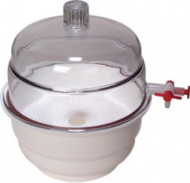 Exicator PP/PC cu robinet de vacuum - 200 mm