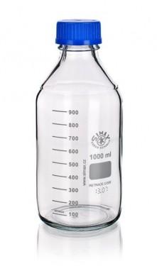 Sticla alba cu capac filetat autoclavabila 140 grd - 1000 ml
