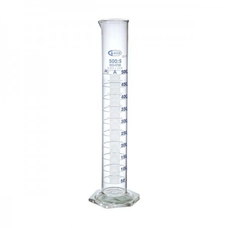 Cilindru gradat clasa A gradatii albastre - 10 ml