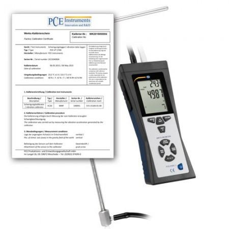 Anemometrul PCE-HVAC 2-ICA cu tub Pitot si certificat de calibrare