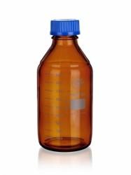 Sticla bruna cu capac filetat autoclavabila 140 grd - 100 ml