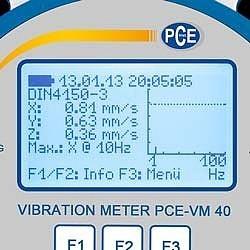 Aparat profesional pentru monitorizare de vibrații in constructii PCE-VM40B