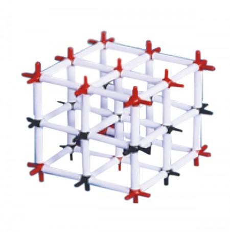 Model clorura de sodiu - reteaua cristalina clorura de sodiu