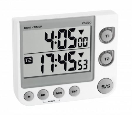 cronometru cu 2 canale si alarma vizuala