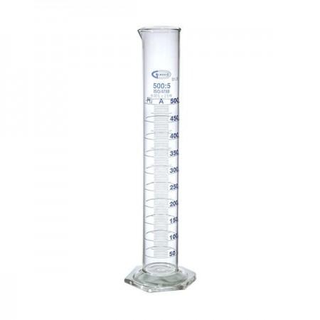 Cilindru gradat clasa A gradatii albastre - 500 ml