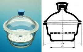 Exicator sticla - 250 mm
