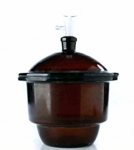 Exicator sticla bruna 240 mm cu robinet vid
