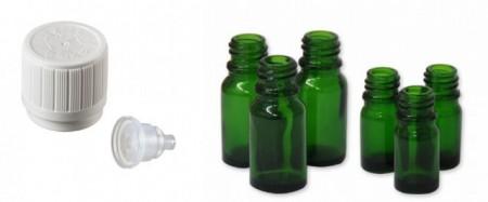 Sticla verde picuratoare 10 ml