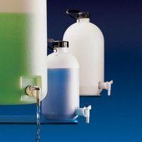 Vas apa distilata din plastic cu robinet si capac filetat 10000 ml