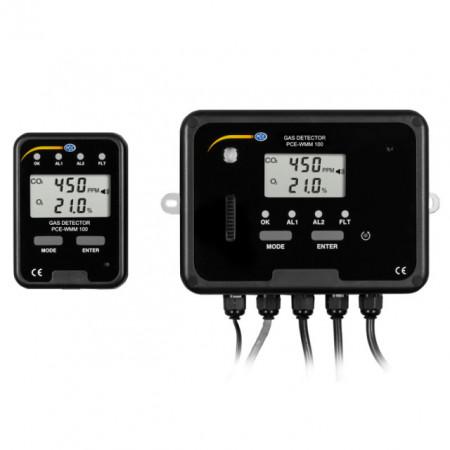 Detector de gaz pentru dioxid de carbon și oxigen PCE-WMM100