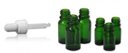 Sticla verde 10 ml cu picurator pipeta