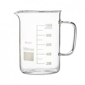 Pahar Berzelius 100 ml sticla boro 3.3 cu toarta