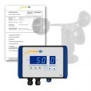 Anemometrul profesional PCE-WSAC 50-110 cu certificat de calibrare