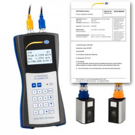 Debitmetru cu ultrasunete PCE-TDS 100HS certificat