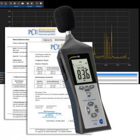 Sonometru LEQ pentru securitatea muncii PCE-322ALEQ cu certificat Marca: PCE-GROUP