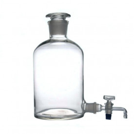Vas pentru apa distilata cu robinet si dop rodat 2500 ml