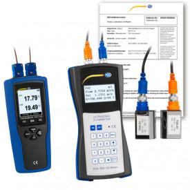 Debitmetru cu ultrasunete PCE-TDS 100HS cu sonda temperatura si certificate