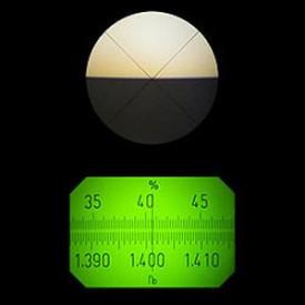 afisaj refractometru ABBE