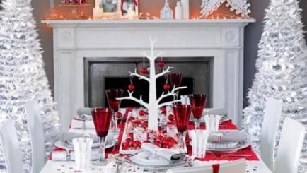 Inspiratia vintage pentru decorarea mesei de Craciun