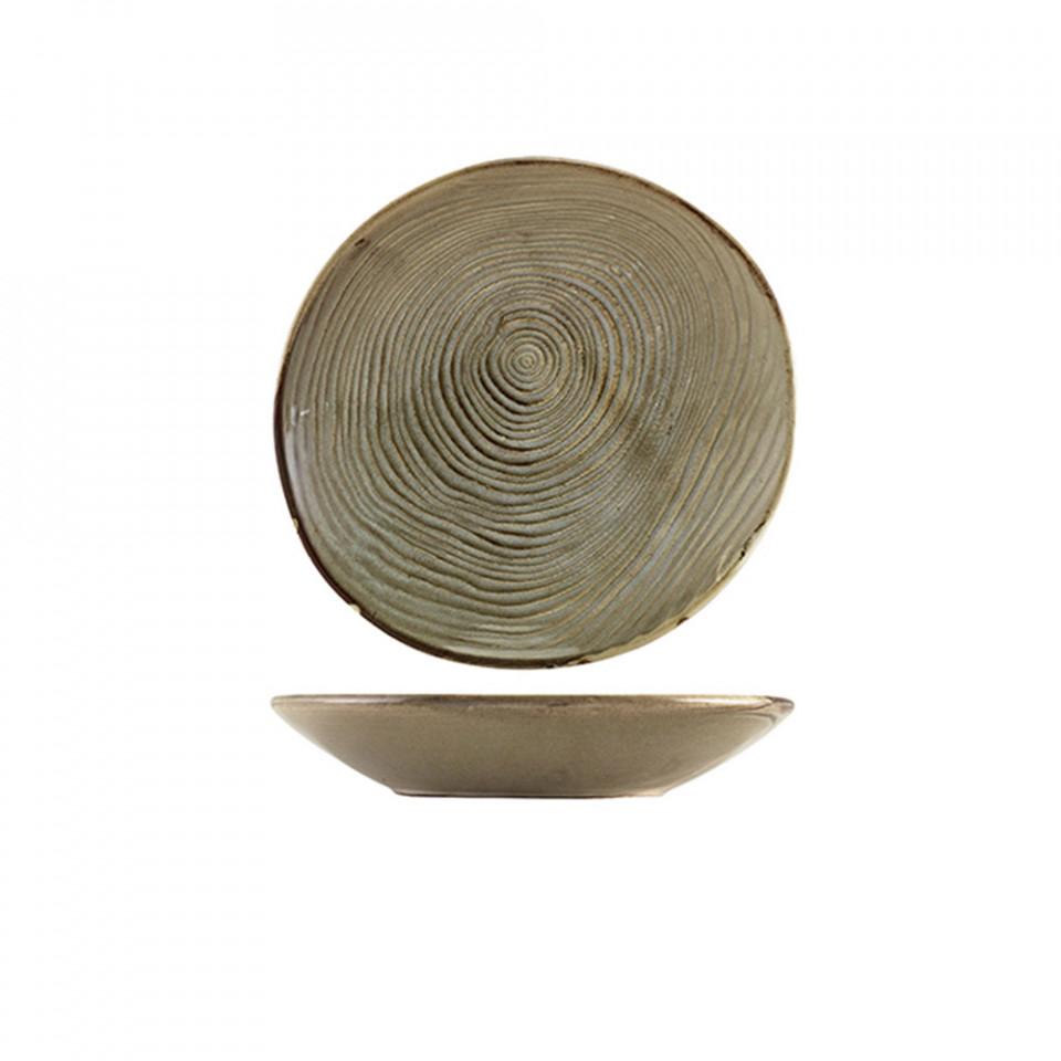 Bol paste organic Terra Porcelain Grey Organicl 21cm CB-PGG21 - 1