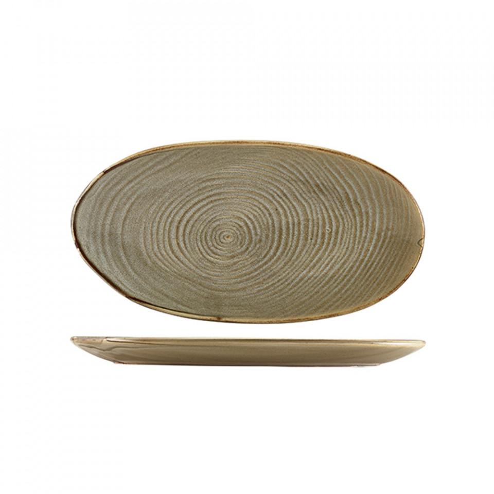 Platou servire Terra Porcelain Grey Organic 31cm PL-PGG31 - 1