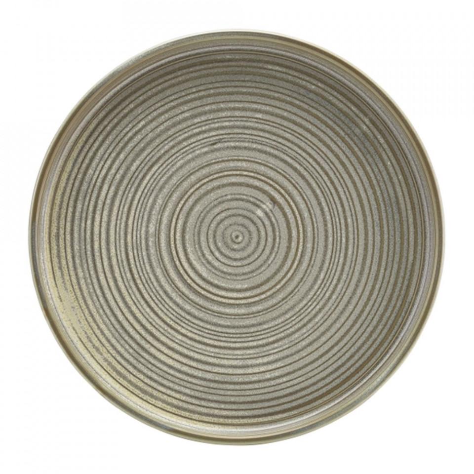 Farfurie prezentare Low Terra Porcelain Matt Grey 25cm LP-PMG25 - 1