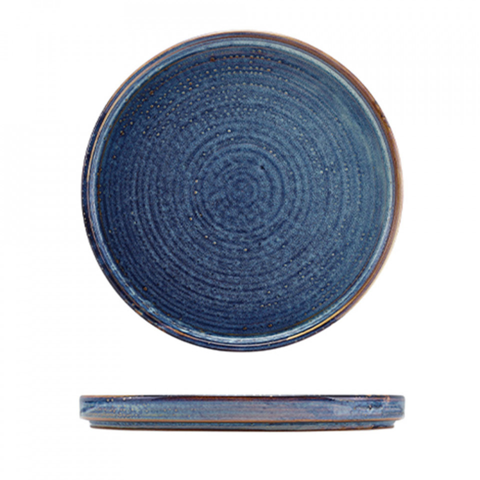 Farfurie prezentare Low Terra Porcelain Aqua Blue 25cm LP-PBL25 - 1