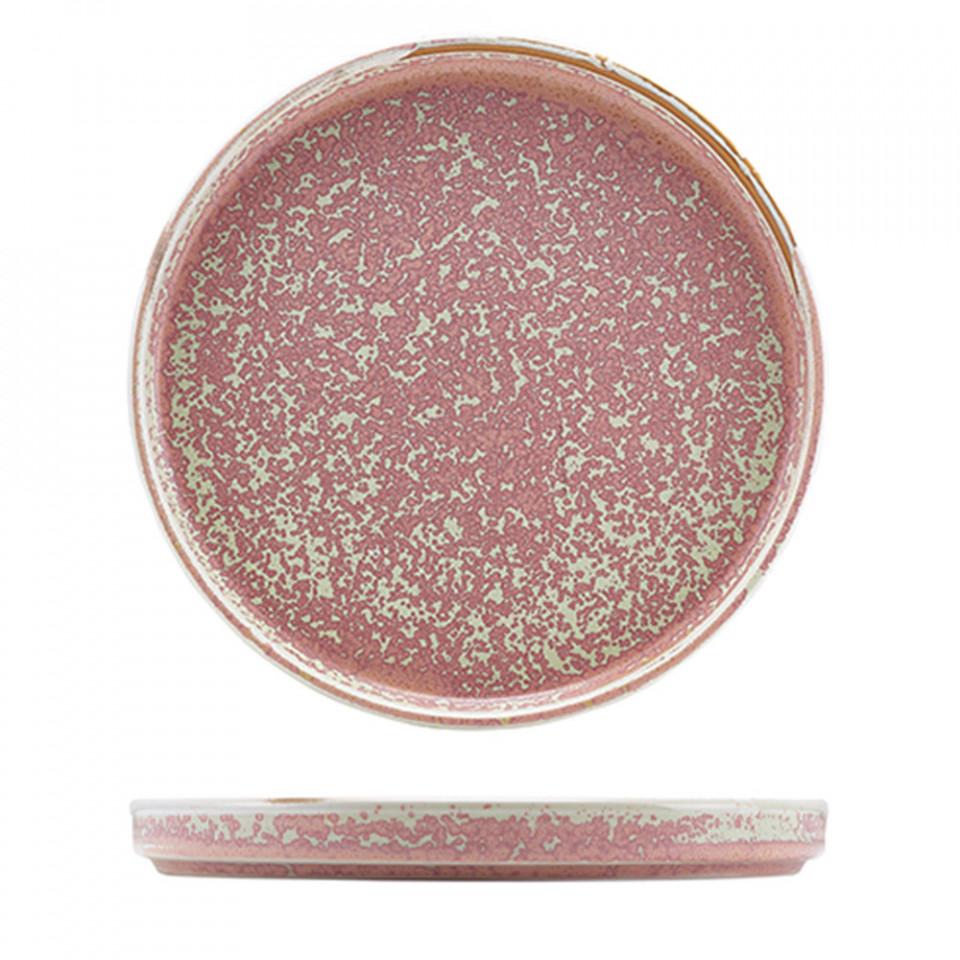 Terra Porcelain Rose Low Presentation Plate 25cm LP-PRS25 - 1