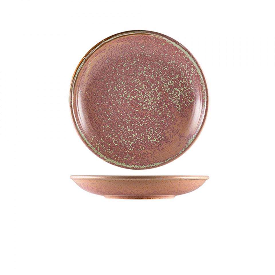 Farfurie adanca Terra Porcelain Rose Plate 25cm DC-PRS25 - 1