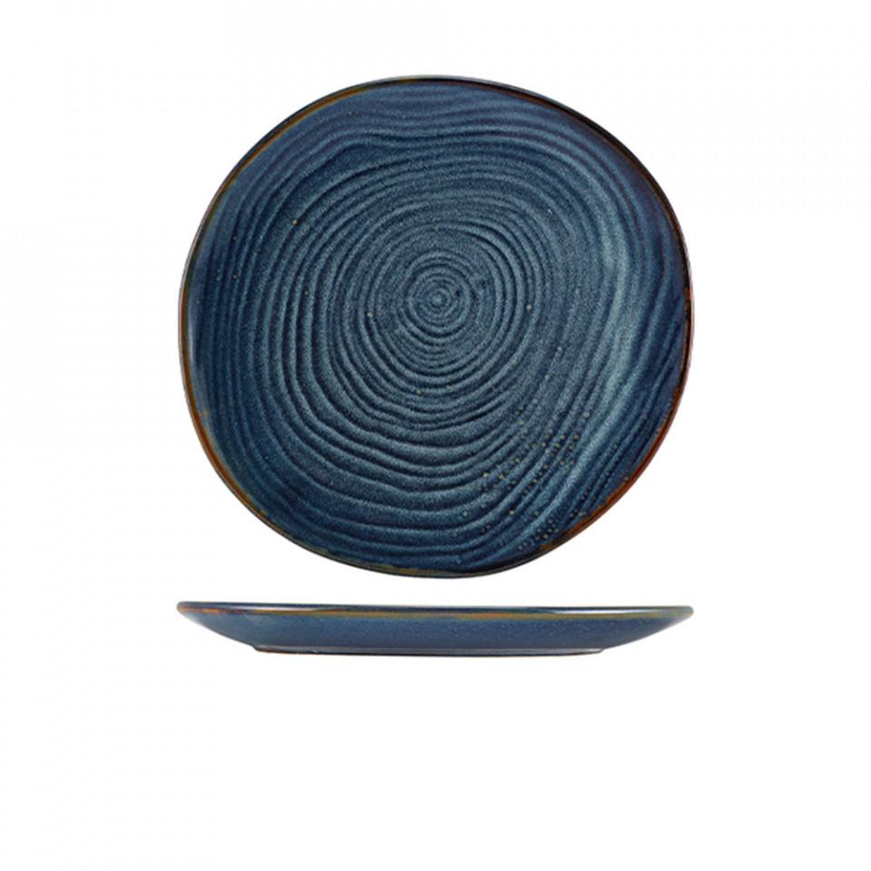 Farfurie coupe Terra Porcelain Aqua Blue Organic 28.5cm CP-PBLG28 - 1