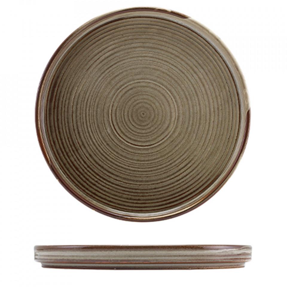 Farfurie prezentare Low Terra Porcelain Grey 25cm LP-PG25 - 1