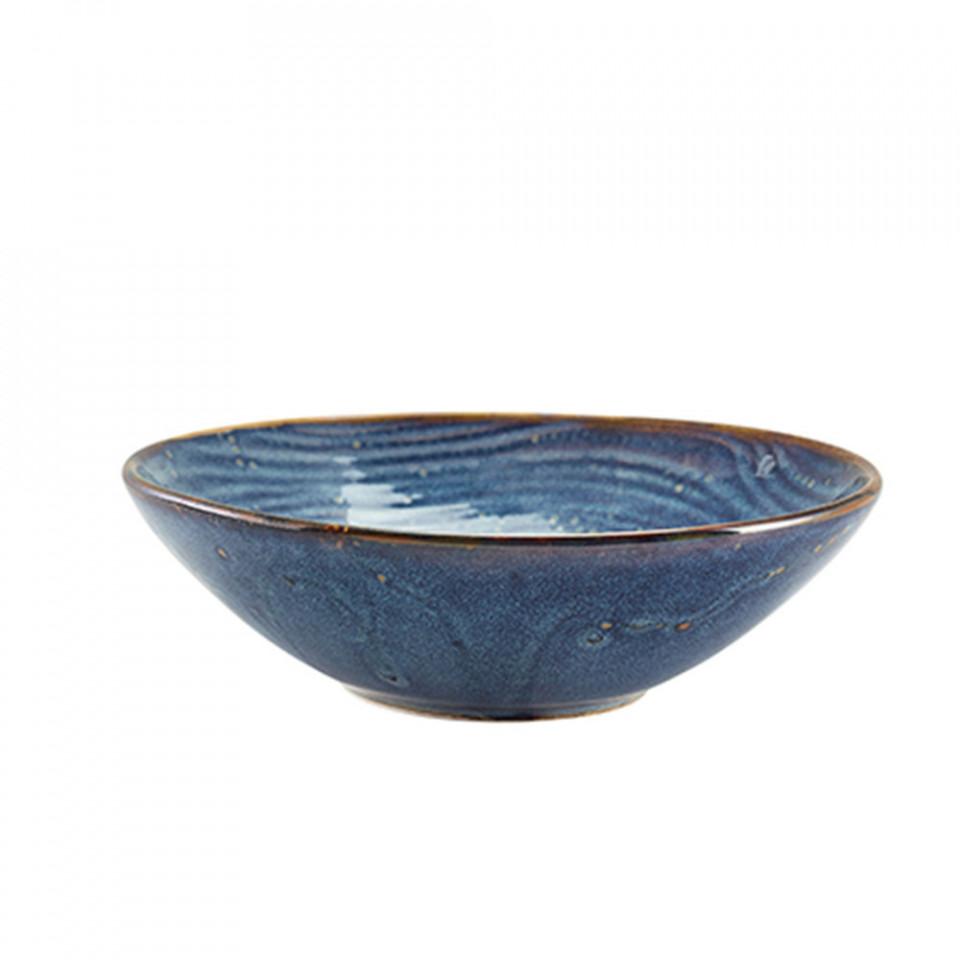 Bol salata Terra Porcelain Aqua Blue Organic 22cm BW-PBLG22 - 1