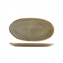 Platou servire Terra Porcelain Grey Organic 31cm PL-PGG31