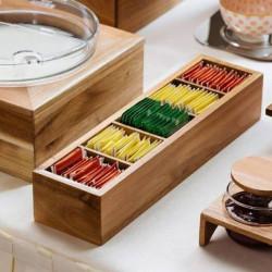 Suport lemn ceai 39x10,2x7,5 cm S5025