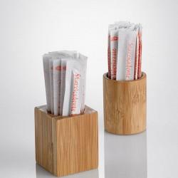 Suport scobitori bambus patrat 3.5 cm x 4.5h S0107