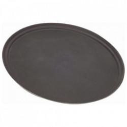 Tava bar fibra sticla neagra ovala 79x58 cm 3100GR-004