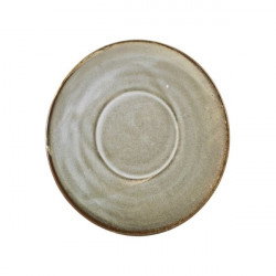 Farfurie ceasca cafea Terra Porcelain Smoke Grey 14.5cm SCR-PG14