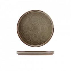 Farfurie prezentare low Terra Porcelain Grey 21cm LP-PG21