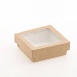 Set cutie cu capac transparent 14x14x4cm H0717