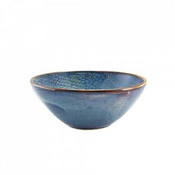 Bol garnitura Terra Porcelain Aqua Blue Organic 16.5cm BW-PBLG16