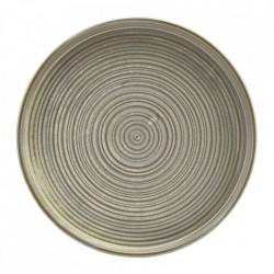 Farfurie prezentare Low Terra Porcelain Matt Grey 25cm LP-PMG25