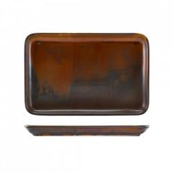 Platou dreptunghiular Terra Porcelain Rustic Copper 30x20cm NR-PRC32