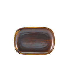 Platou Terra Porcelain Rustic Copper 24 x 16.5cm RP-PRC24